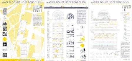 paneles de la propuesta MADRID, DONDE NO SE PONE EL SOL