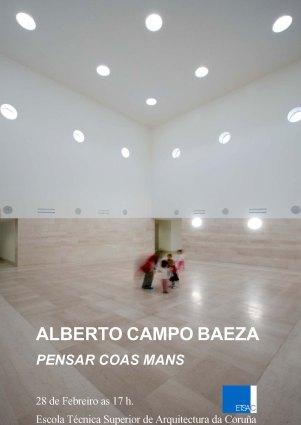 Campo Baeza, conferencia  Pensar coas mans