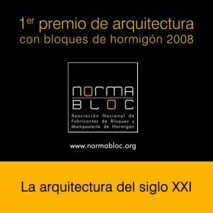 Primer premio de arquitectura con mamposter�a de hormigón 2008