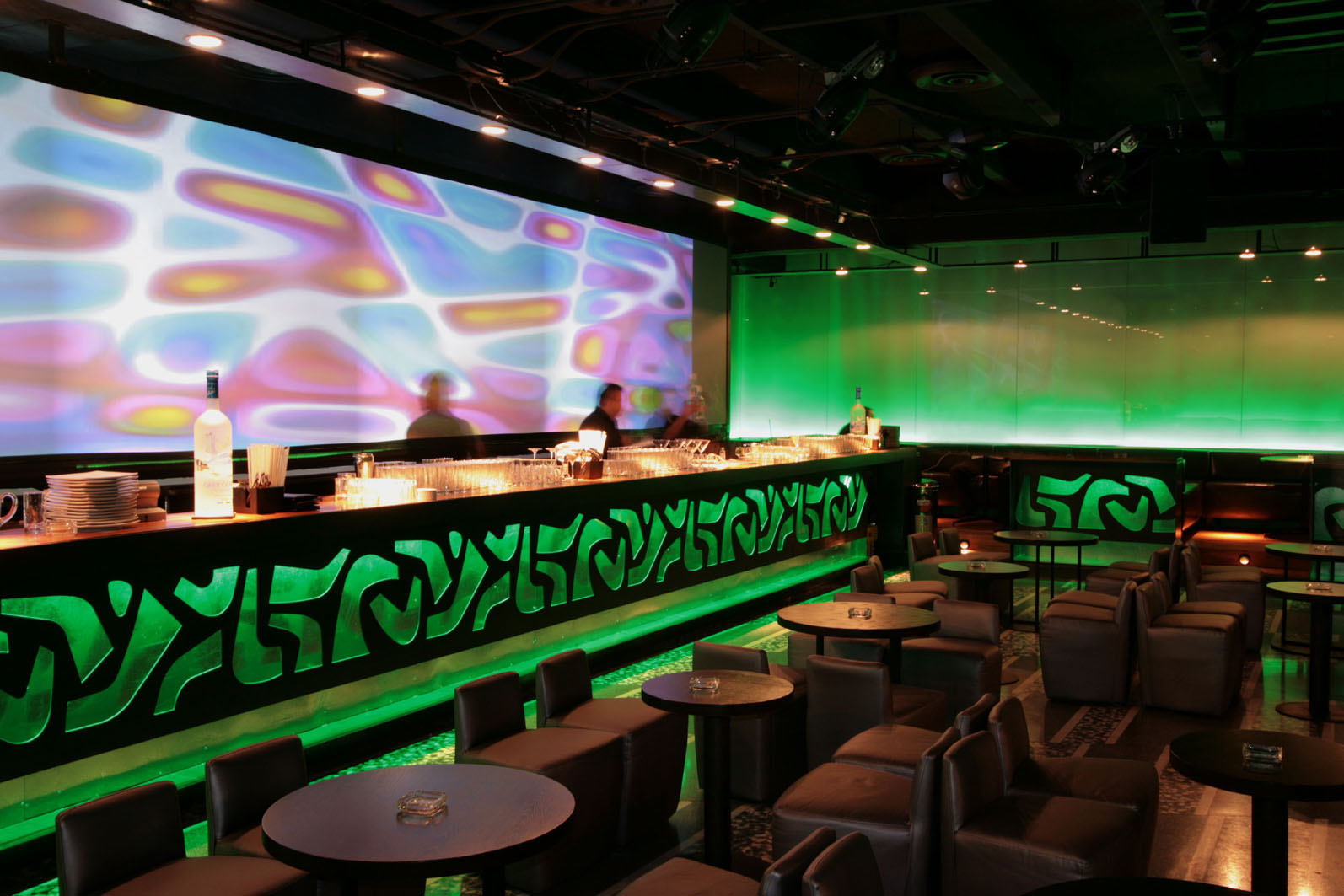 Nisha bar lounge pascal arquitectos arquitectura - Barras de bares ...